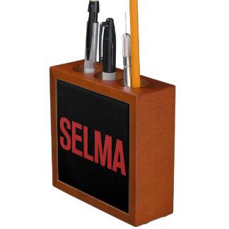 MLK Day-Selma-Red on Black Desk Organizers