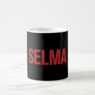MLK Day-Selma-Red on Black Mug