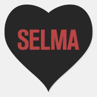 MLK Day-Selma-Red on Black Heart Sticker