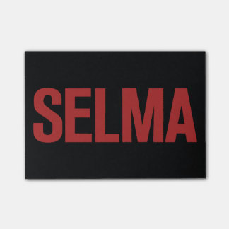 MLK Day-Selma-Red on Black Post-it® Notes