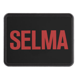MLK Day-Selma-Red on Black Trailer Hitch Covers