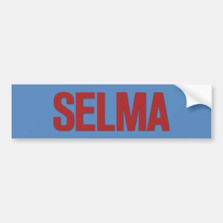 MLK Day-Selma Red on Blue Car Bumper Sticker