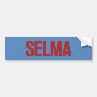 MLK Day-Selma Red on Blue Bumper Sticker