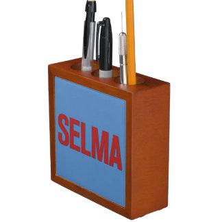 MLK Day-Selma Red on Blue Desk Organizer