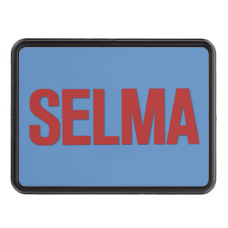 MLK Day-Selma Red on Blue Hitch Cover