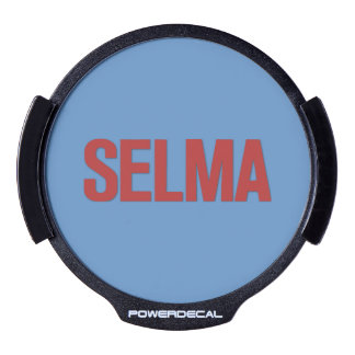 MLK Day-Selma Red on Blue LED Window Decal