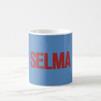 MLK Day-Selma Red on Blue Mugs