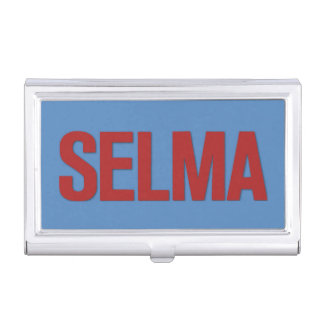 MLK Day-Selma Red on Blue Business Card Case