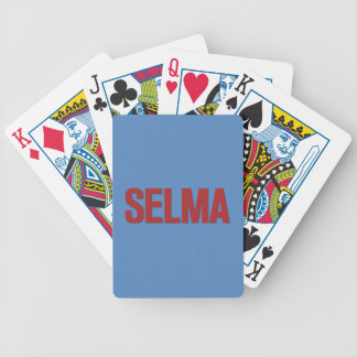 MLK Day-Selma Red on Blue Bicycle Playing Cards