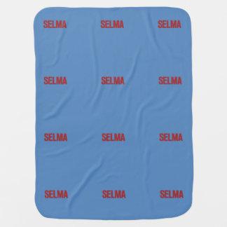 MLK Day-Selma Red on Blue Receiving Blanket