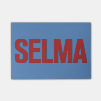 MLK Day-Selma Red on Blue Post-it® Notes