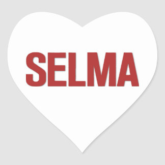 MLK Day-Selma Red Heart Stickers