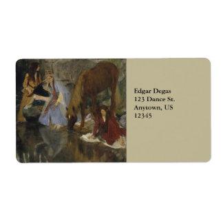 Mlle Fiocre in Ballet La Source by Edgar Degas Label