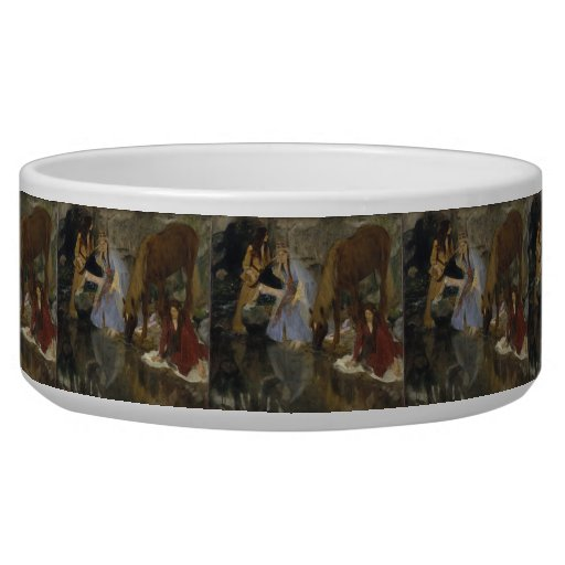 Mlle Fiocre in Ballet La Source by Edgar Degas Dog Water Bowl