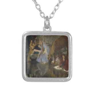 Mlle Fiocre in Ballet La Source by Edgar Degas Silver Plated Necklace