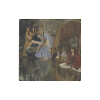 Mlle Fiocre in Ballet La Source by Edgar Degas Stone Magnet