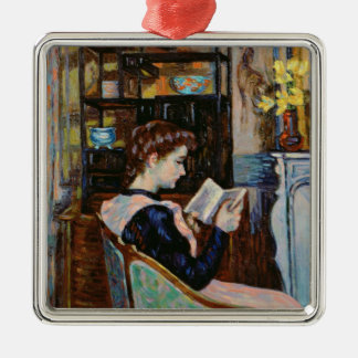 Mlle. Guillaumin reading, 1907 Metal Ornament