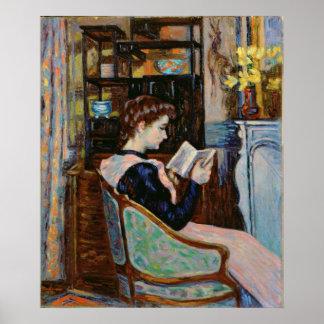 Mlle. Guillaumin reading, 1907 Print