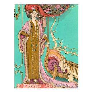 Mlle Marnac by George Barbier Postcard