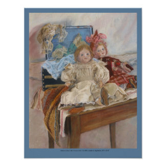 """Mlle. Pinchon's Dolls"" antique French dolls Poster"