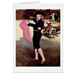 Mlle Victorine By Edouard Manet Card