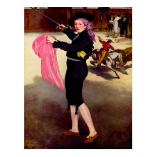 Mlle. Victorine in the Costume of a Matador -Manet Postcard