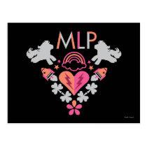 MLP Retro Logo Postcard