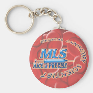 MLS NICE AND PRECISE MEDICAL LABORATORY SCIENTIST KEYCHAIN