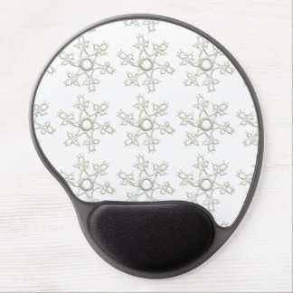 MLSE EMBROIDERED CREAM WHITE SNOWFLAKE SCRAPBOOKIN GEL MOUSE PAD