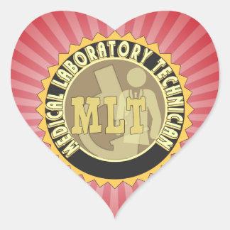 MLT BADGE MEDICAL LABORATORY TECHNICIAN HEART STICKER