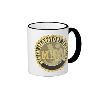 MLT BADGE MEDICAL LABORATORY TECHNICIAN RINGER COFFEE MUG