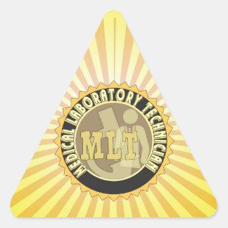 MLT BADGE MEDICAL LABORATORY TECHNICIAN TRIANGLE STICKER