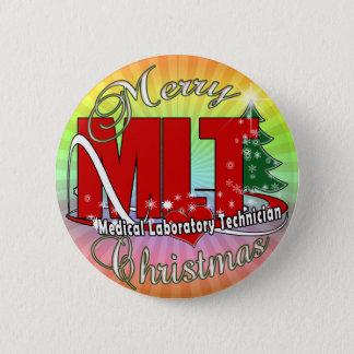 MLT CHRISTMAS MEDICAL LABORATORY TECH BUTTON