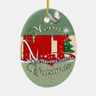MLT CHRISTMAS MEDICAL LABORATORY TECH CERAMIC ORNAMENT