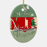 MLT CHRISTMAS MEDICAL LABORATORY TECH Double-Sided OVAL CERAMIC CHRISTMAS ORNAMENT
