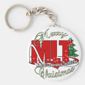 MLT CHRISTMAS MEDICAL LABORATORY TECH KEYCHAIN