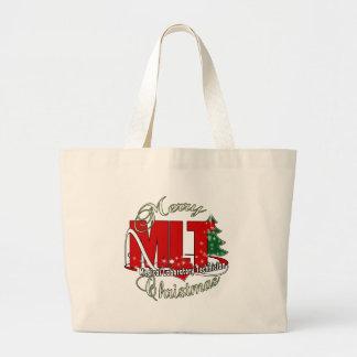 MLT CHRISTMAS MEDICAL LABORATORY TECH LARGE TOTE BAG