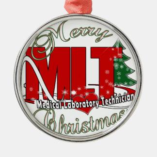 MLT CHRISTMAS MEDICAL LABORATORY TECH METAL ORNAMENT