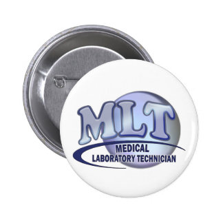 MLT FunBlue LOGO - MEDICAL LABORATORY TECHNICIAN Button