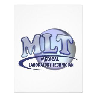 MLT FunBlue LOGO - MEDICAL LABORATORY TECHNICIAN Personalized Letterhead