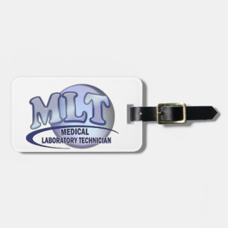 MLT FunBlue LOGO - MEDICAL LABORATORY TECHNICIAN Tag For Luggage