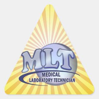 MLT FunBlue LOGO - MEDICAL LABORATORY TECHNICIAN Triangle Sticker