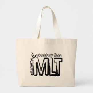 MLT GRUNGE TEXT MEDICAL LABORATORY TECHNICIAN BAG