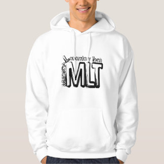 MLT GRUNGE TEXT MEDICAL LABORATORY TECHNICIAN HOODY