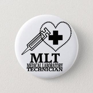 MLT HEART SYRINGE MEDICAL LAB TECH LOGO BUTTON