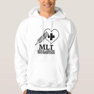 MLT HEART SYRINGE MEDICAL LAB TECH LOGO HOODIE