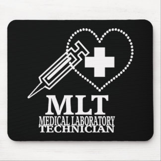 MLT HEART SYRINGE MEDICAL LAB TECH LOGO MOUSE PAD