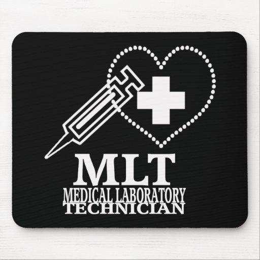 MLT HEART SYRINGE MEDICAL LAB TECH LOGO MOUSEPADS