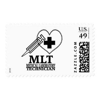 MLT HEART SYRINGE MEDICAL LAB TECH LOGO STAMPS