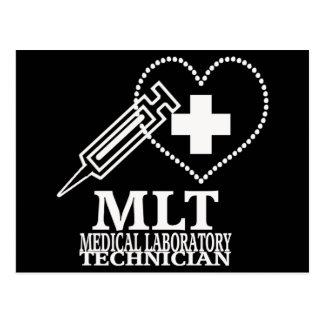 MLT HEART SYRINGE MEDICAL LAB TECH LOGO POSTCARD